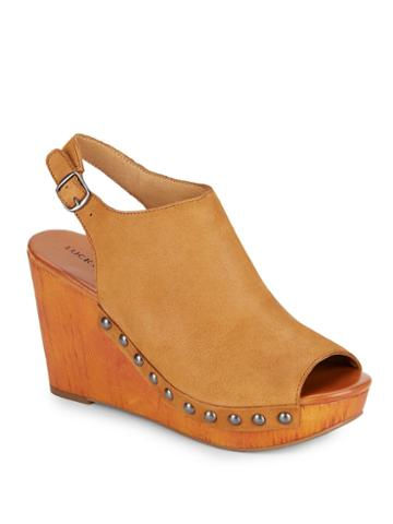 Lucky Brand Marrae Leather Wedges