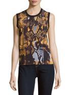 Mcq Alexander Mcqueen Printed Sleeveless Cotton Top