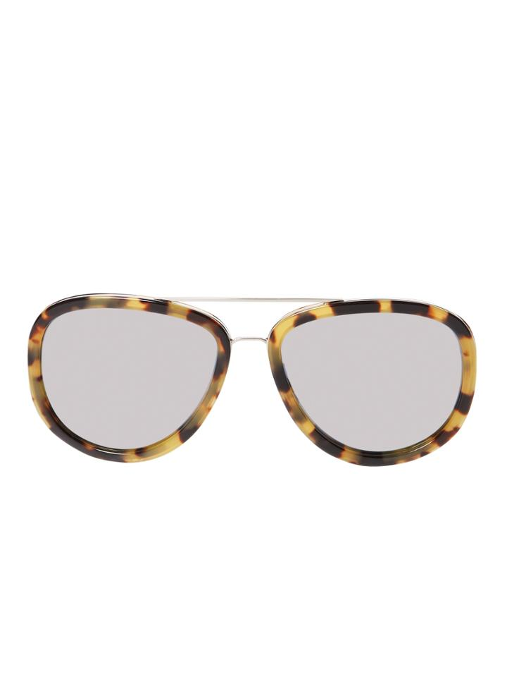 3.1 Phillip Lim By Linda Farrow Gallery Acetate & Metal Aviator Frame