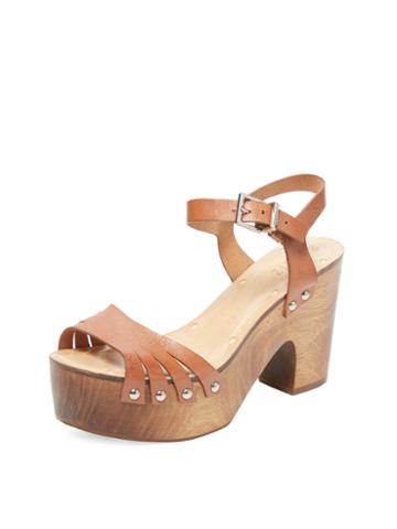 Schutz Leather Platform Sandal