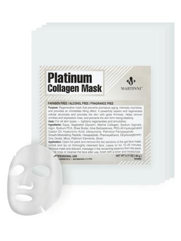 Martinni Beauty Masks Platinum Collagen Mask (4 Pk)