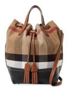 Burberry Canvas Medium Check Bucket Bag