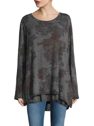 Le Marais Floral Pattern Silk Sweater