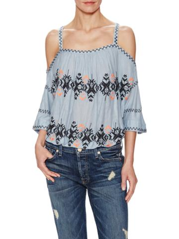 Free People South By Southwest Jersey Off Shoulder Top