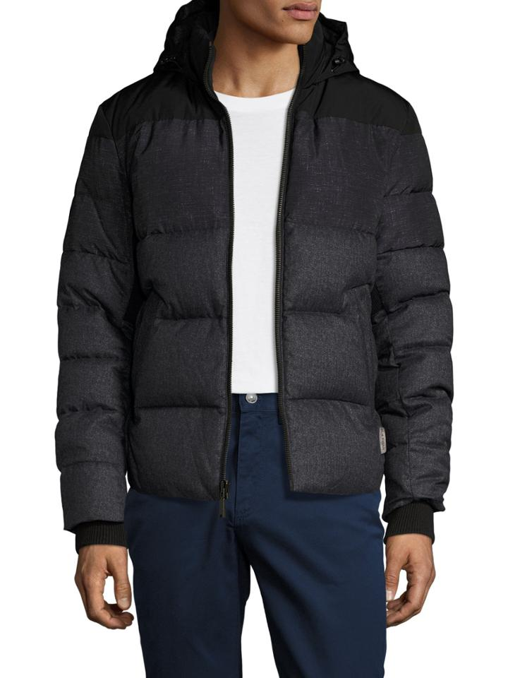 Elie Tahari Quilted Hooded Puffer Coat
