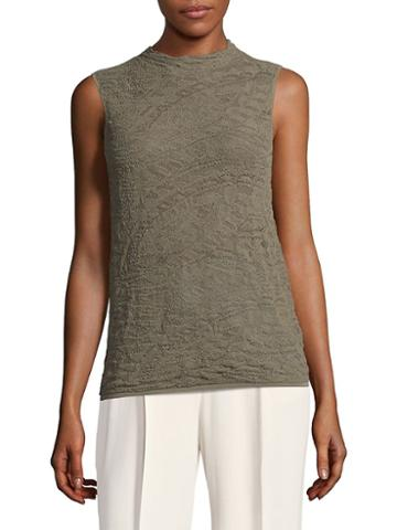 Lafayette 148 New York Sleeveless Knit Bateau Top