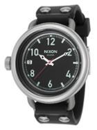 Nixon October Black Dial Watch, 49mm