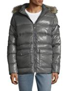 Pyrenex Authentic Shiny Jacket With Fur