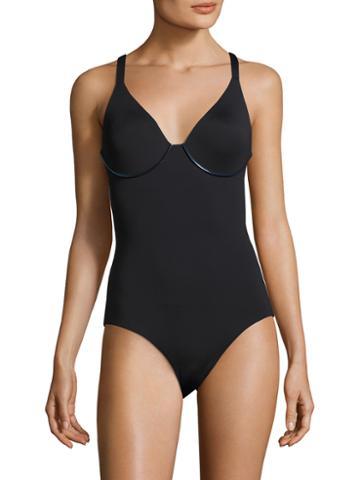 La Perla V-neck One Piece Swimsuit