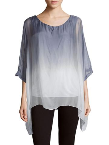 Le Marais Ombre Asymmetric Silk Top