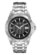 Bulova Classic Round Stainless Steel Watch, 43mm