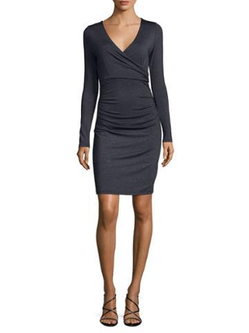 Susana Monaco Faux-wrap Sheath Dress