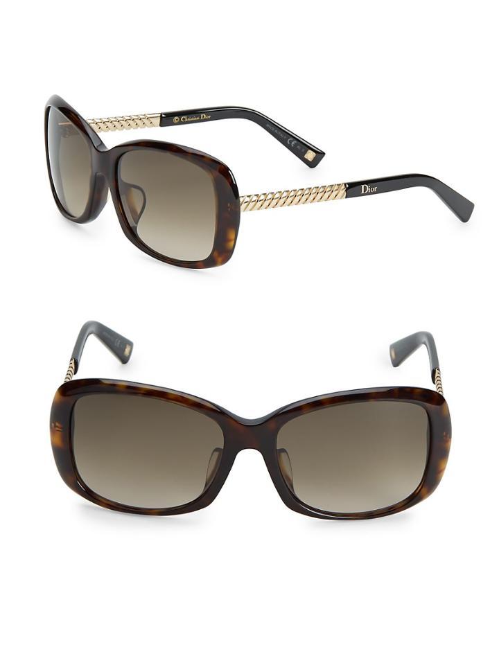 Christian Dior 56mm Rectangle Sunglasses
