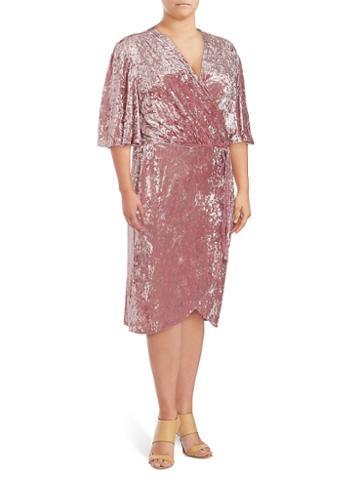 Alexia Admor Flutter-sleeve Wrap Dress