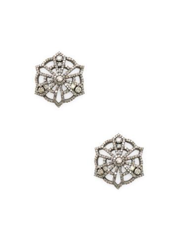 Arthur Marder Fine Jewelry Filigree Diamond Earrings