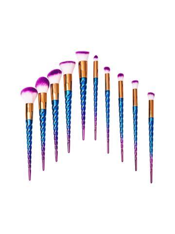 Zoe Ayla Unicorn Style Essentials Brush Set - Blue (10 Pc)