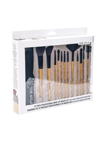 Zoe Ayla Professional Make-up Brush Set - Wood (12 Pc)