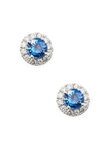 Arthur Marder Fine Jewelry Sapphire Earrings With Diamond Studs