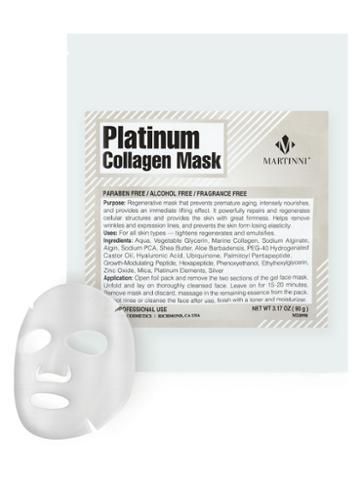 Martinni Beauty Masks Platinum Collagen Mask (3.17 Oz)