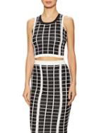 Stella & Jamie Borgia Checkered Cropped Top