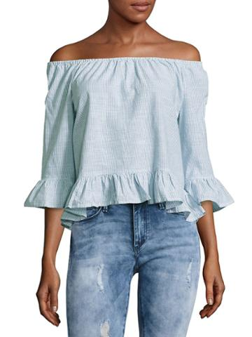 Sanctuary Bell-sleeve Off-the-shoulder Top