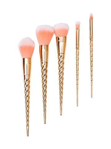 Zoe Ayla Unicorn Style Essentials Brush Set - Rose Gold (5 Pc)