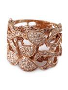 Effy Diamond Ring In 14 Kt. Rose Gold, 0.94 Ct. T.w.