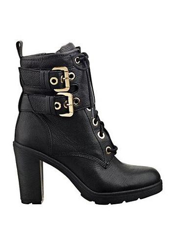 Guess Finlay Lace-up Buckle Booties