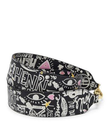 Henri Bendel Graffiti Print Novelty Bag Strap