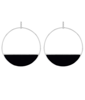 Henri Bendel Resin Disc Hoop Earring