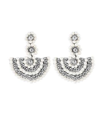 Henri Bendel Lavish Beaded Pearl Drop Earring
