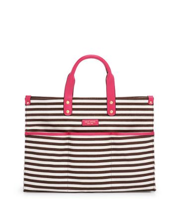 Henri Bendel Medium Striped Canvas Tote