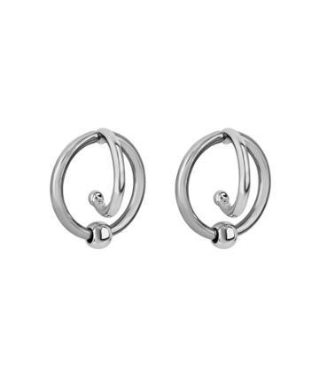 Henri Bendel Metal Hook Hoop Earring