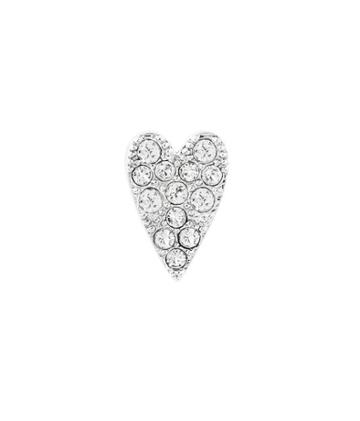 Henri Bendel Pave Heart Single Stud Earring