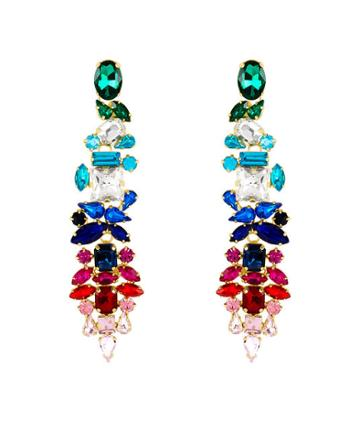 Henri Bendel Stella & Ruby Multicolored Chandelier Earring