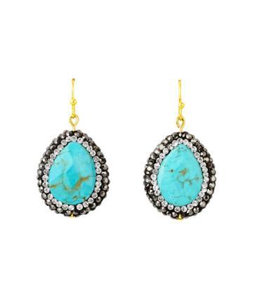 Henri Bendel Kevia Turquoise Teardrop Earring