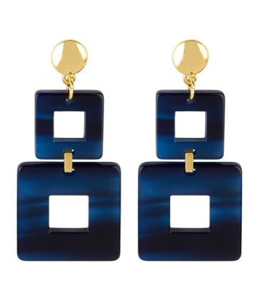 Henri Bendel Valet Toucan Square Linear Earring