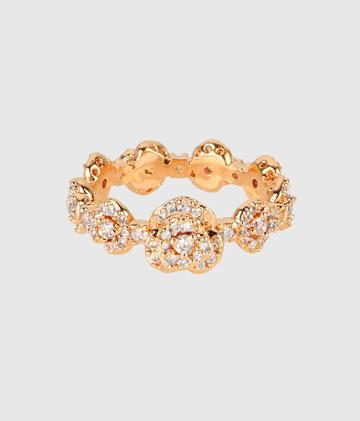 Henri Bendel Luxe Rose Bouquet Band Ring