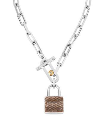 Henri Bendel Rocks Padlock Necklace