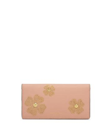 Henri Bendel West 57th Floral Studded Kangaroo Wallet
