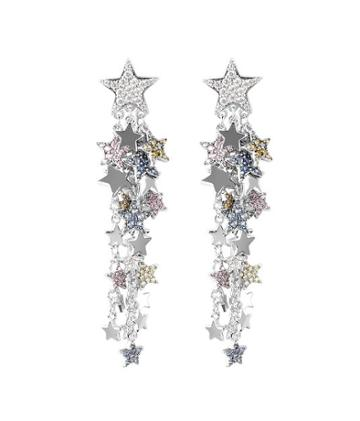 Henri Bendel Pave Star Chandelier Earring