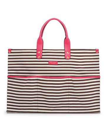 Henri Bendel Large Striped Canvas Tote