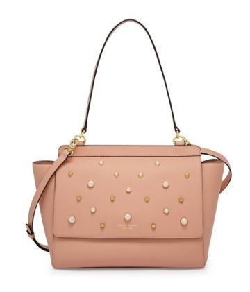 Henri Bendel West 57th Flap Satchel With Pearls