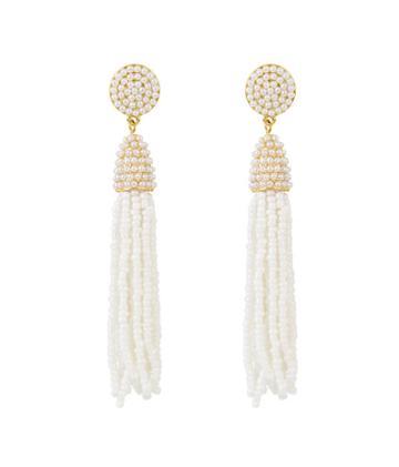 Henri Bendel Stella & Ruby Pearl Tassel Earring