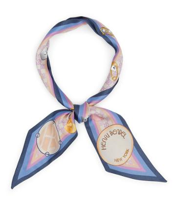 Henri Bendel Whimsy Hb Icons Skinny Mini Scarf