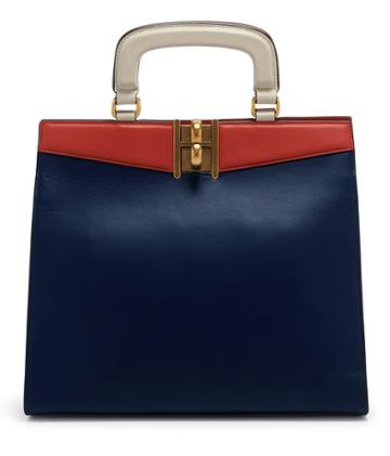 Henri Bendel Plaza Color Blocked Satchel