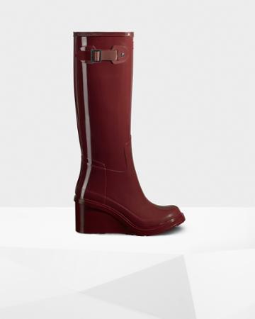 Women's Original Refined Tall Gloss Wedge Boots