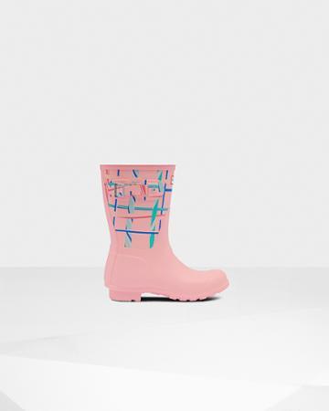 Women's Original Short Rock Tartan Rain Boots