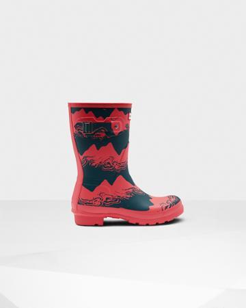 Women's Original Short Storm Stripe Rain Boots
