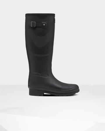 Women's Original Refined Insulated Wave Texture Tall Rain Boots
